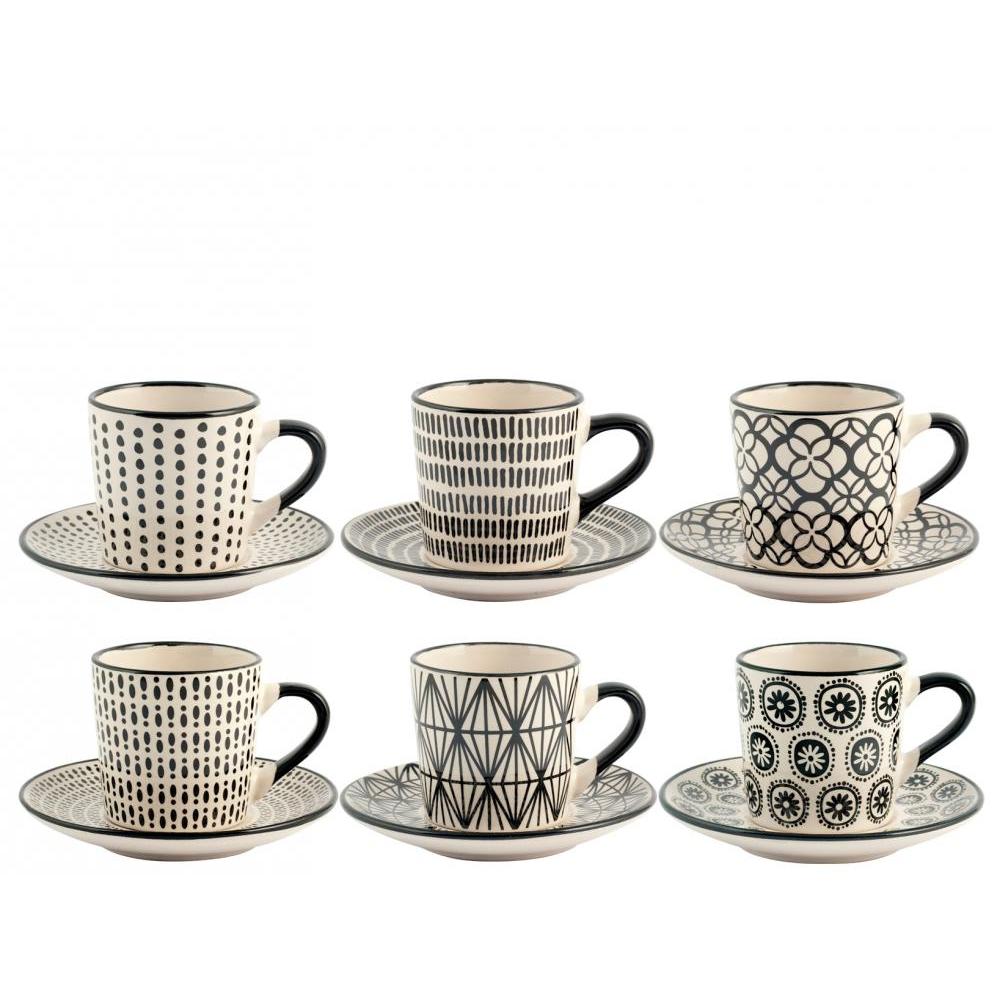 Set 6 tazzine caffè Vhera