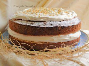 Victoria sponge cake al torroncino