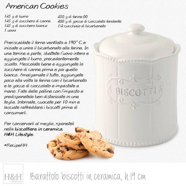 Barattolo Biscotti Ceramica H&H per Cookies Camilla Maison