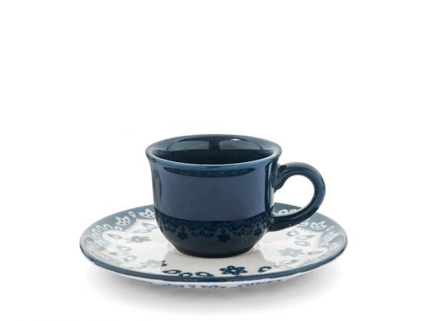 Flora Tazzine Caffè con piattino 75 ml set 6 pezzi Camilla Maison