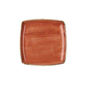Piatto Quadrato Arancio 27x27 cm