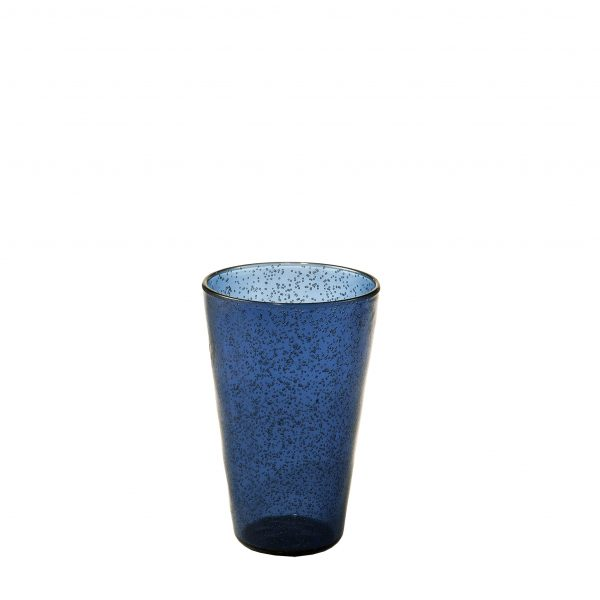 Drink Glass Bicchiere profondo blu in metacrilato Memento Synth Camilla.maison