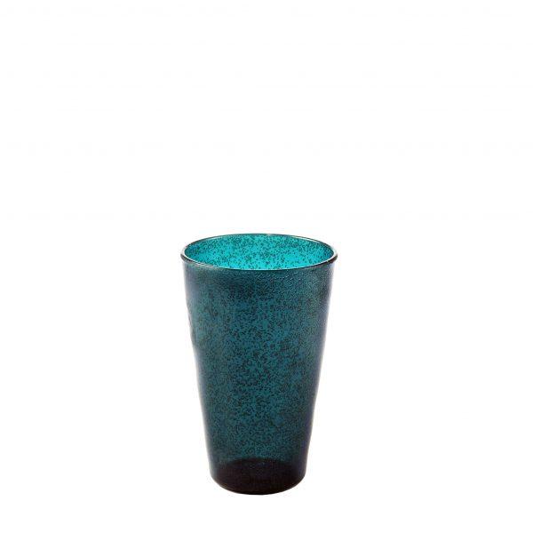 Drink Glass Bicchiere petrolio in metacrilato Memento Synth Camilla.maison