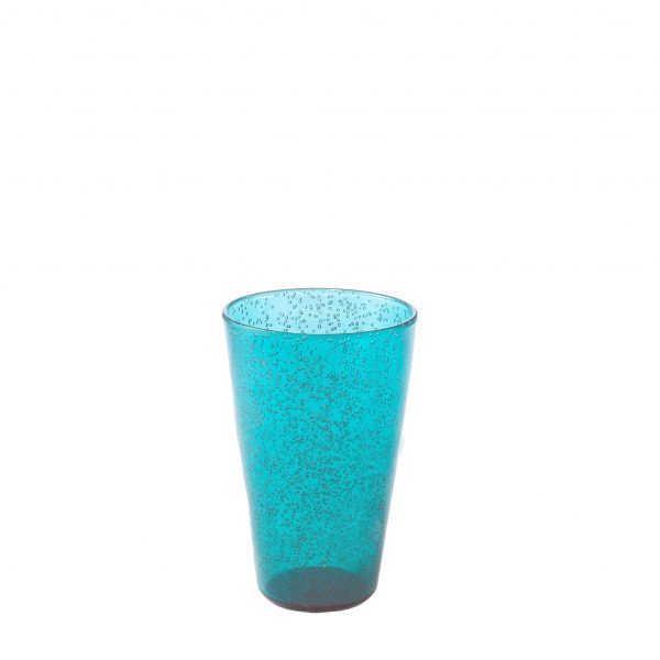 Drink Glass Bicchiere turchese in metacrilato Memento Synth Camilla.maison