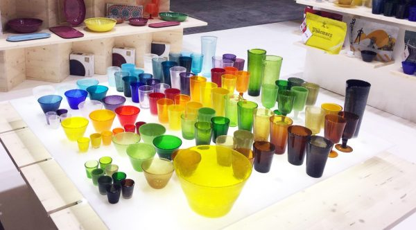 Drink Glass Bicchiere turchese in metacrilato Memento Synth Camilla.maison