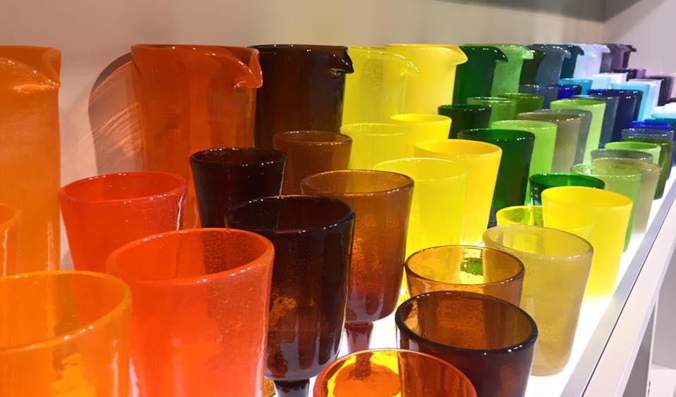 Drink Glass Bicchiere arancio in metacrilato Memento Synth Camilla.maison