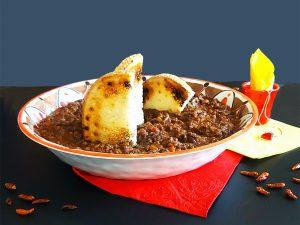 Chili di Carne con crostoni tostati in Insalatiera Madrid Touch MNel in melamina camilla.maison